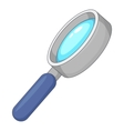 Magnify icon cartoon style vector image
