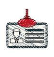 color crayon stripe cartoon identification card vector image