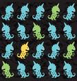 cartoon monsters seamless pattern vector image