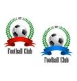 Football ball in laurel wreath vector image vector image