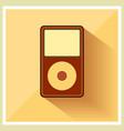 Music Media MP3 Player Retro Icon vector image vector image