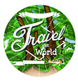 Palm tree travel background vector image vector image