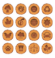 eco and environment icons set vector image vector image