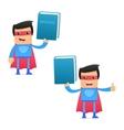 superhero carrying manual vector image vector image