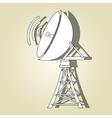transmitting satellite design vector image