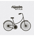 bicycle hipster style isolated icon vector image