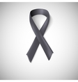 Black ribbon loop vector image
