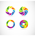 Corporate logo set vector image
