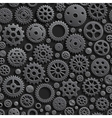 Creative Black Gears 3d Seamless Pattern vector image