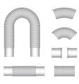 Plumbing corrugated flexible tubes vector image