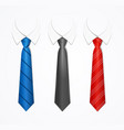 realistic 3d detailed tuxedo tie and shirt set vector image