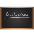 Text on blackboard vector image