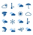 Weather Forecast Blue Icon Set vector image