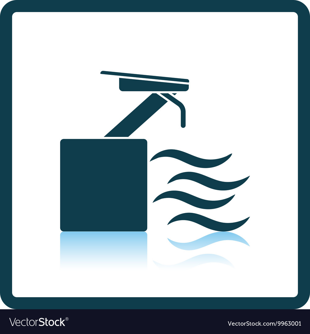 Diving stand icon vector