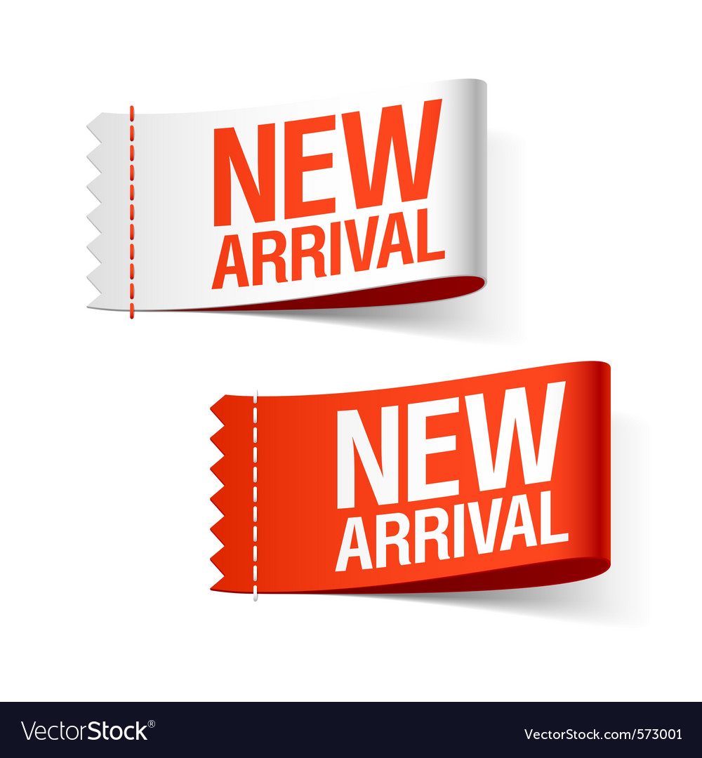 New arrival labels vector