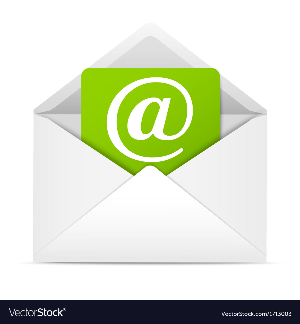 Envelope with paper sheet  concept of email vector