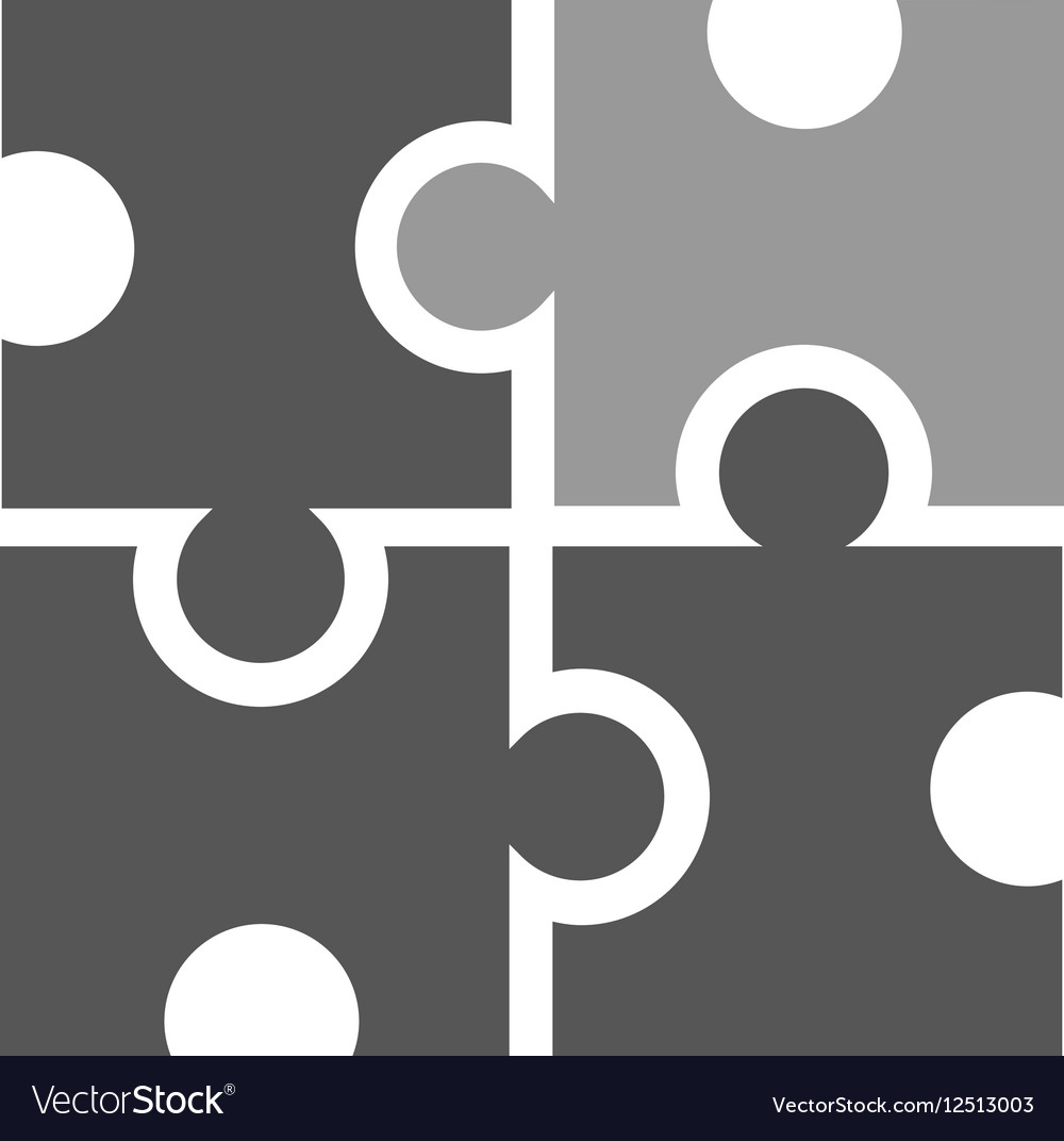 Puzzle like marketing icon vector