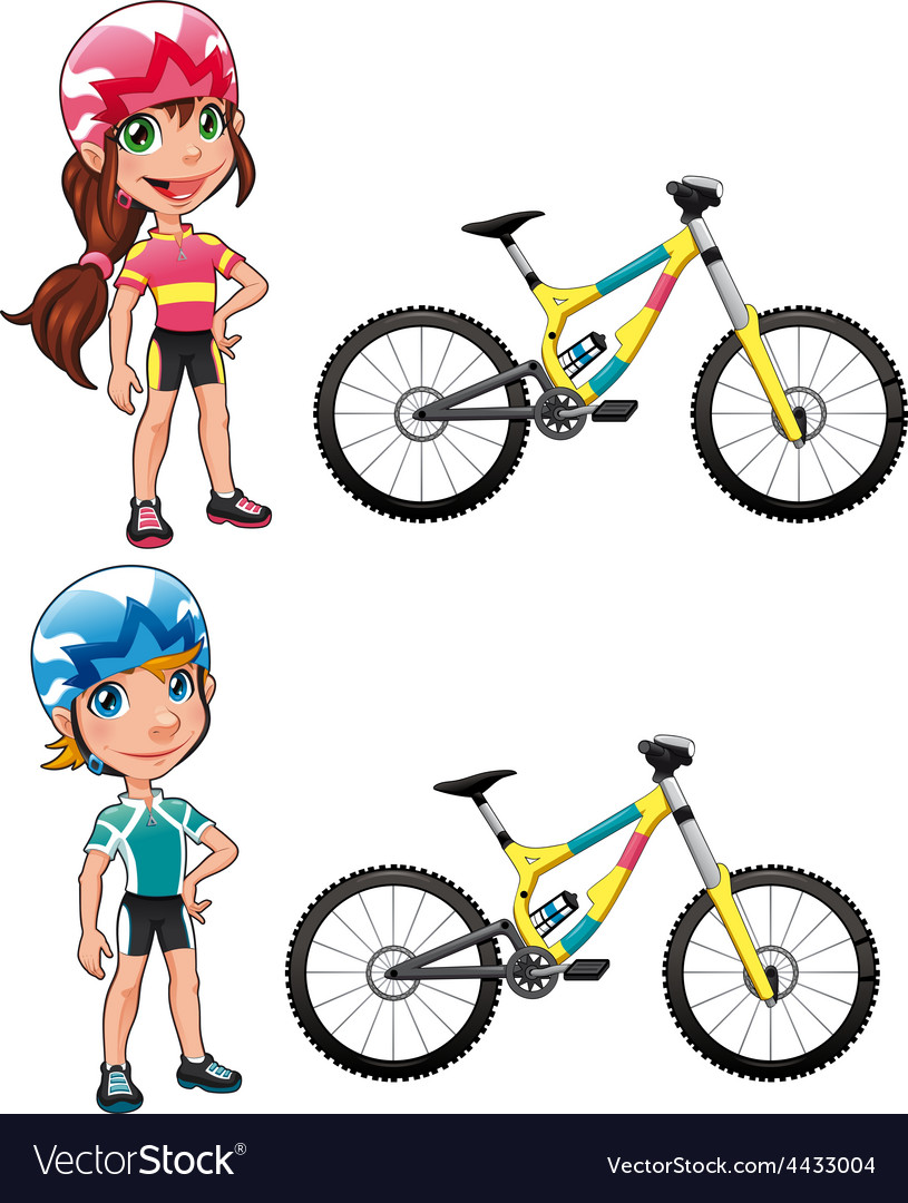 Baby cyclists vector
