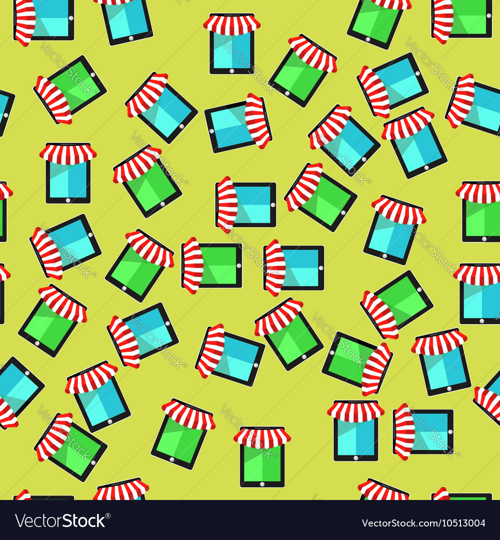 Mobile store seamless pattern vector