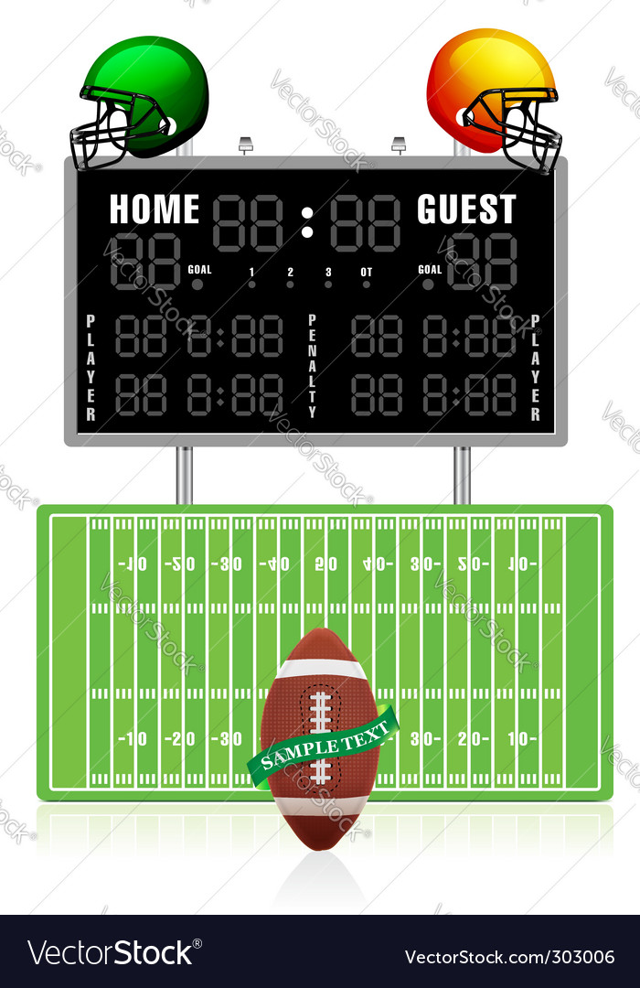 Home and guest scoreboard vector