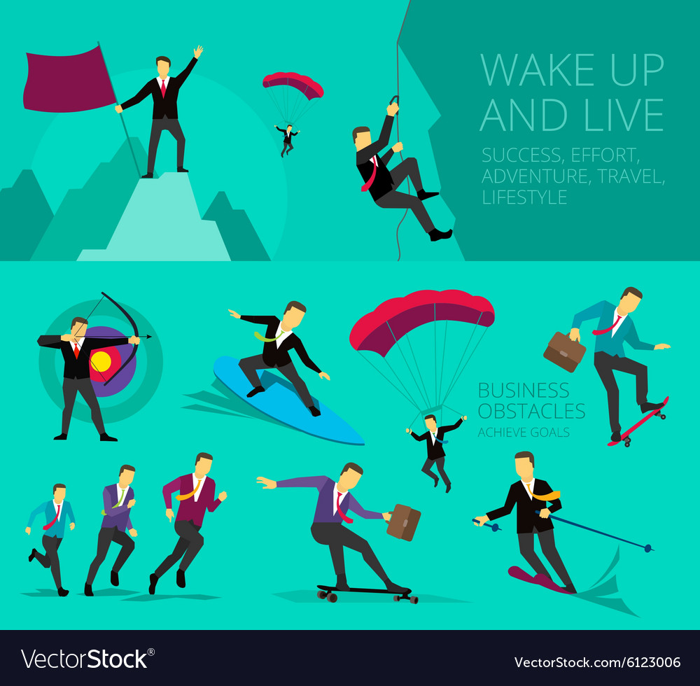 Show businessman successful vector