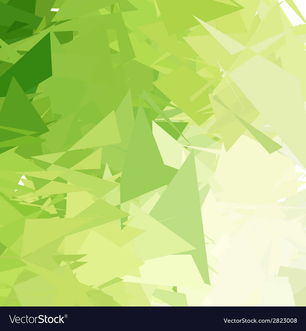 Green light abstract background vector