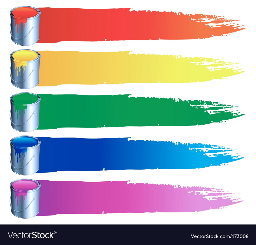 Paint bucket icons vector
