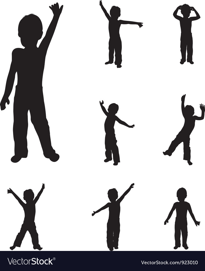Child dancing vector