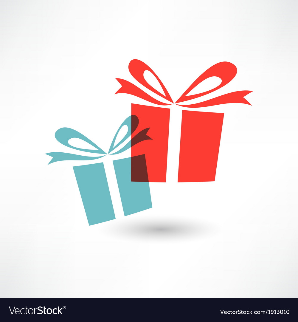 Two colored gifts vector
