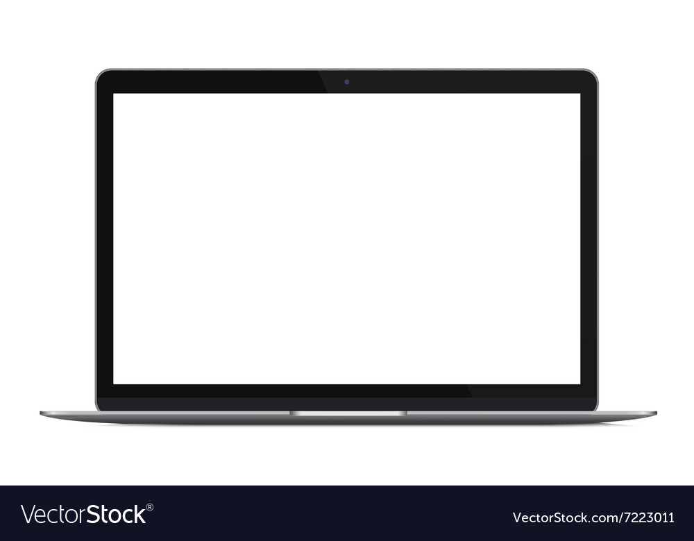 Modern thin laptop notebook or ultrabook isolated vector