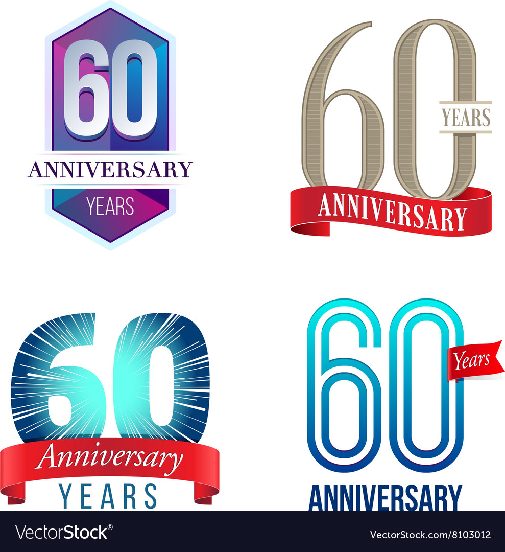 30 Year Anniversary Symbol: Dove Birds Logo For Peace Concept And Wedding Desi Vector