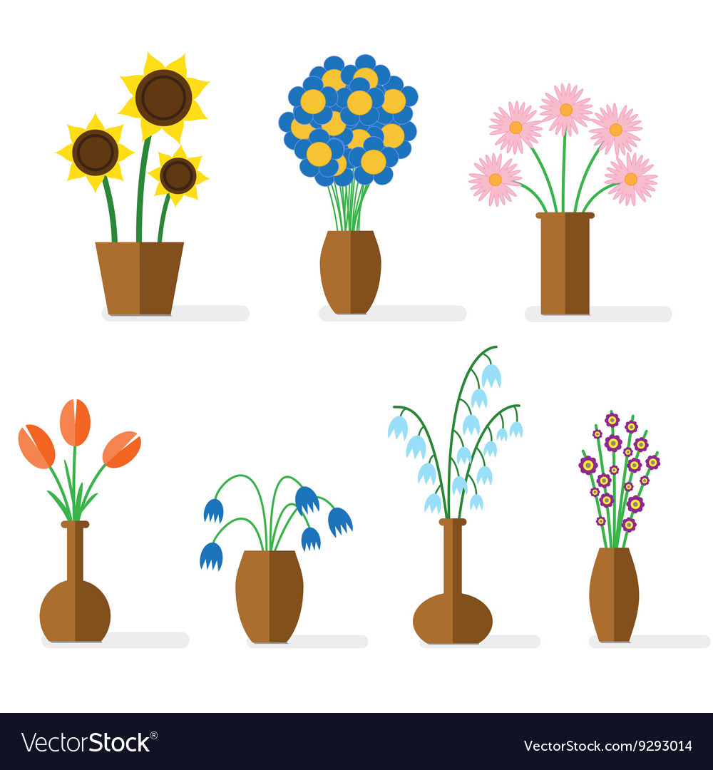 Flower flat colored vector