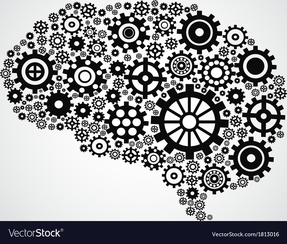 Brain gear vector