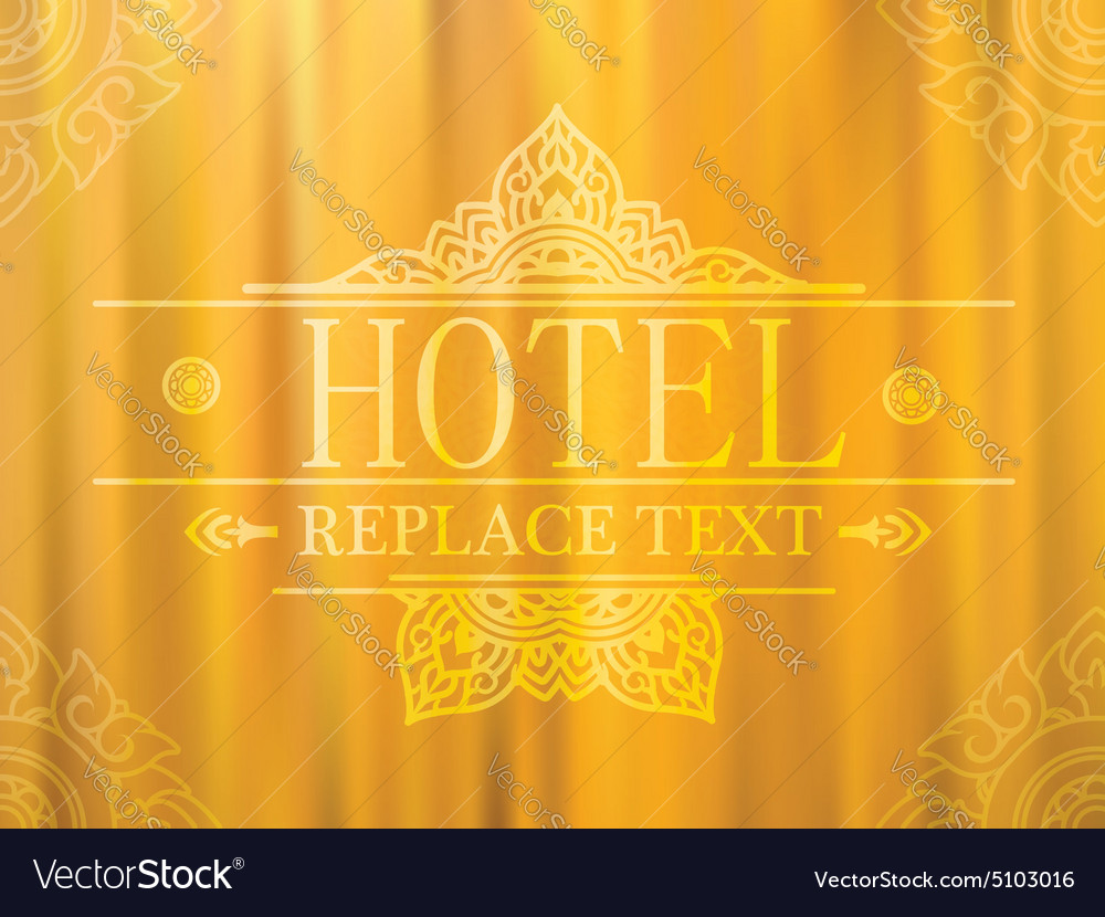 Logo template flourishes graphic thai design hotel vector