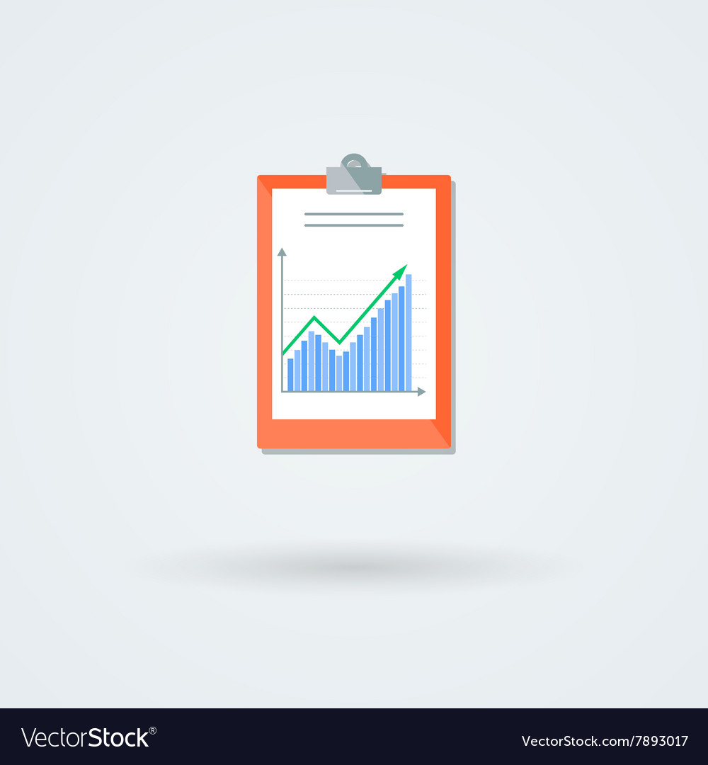 Paper board with schedule icon vector