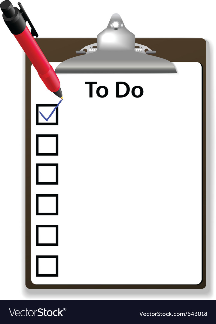 Todo list vector