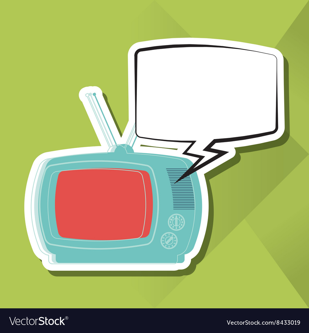 Retro tv design vector