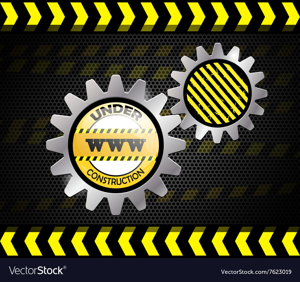 Under construction over black background vector