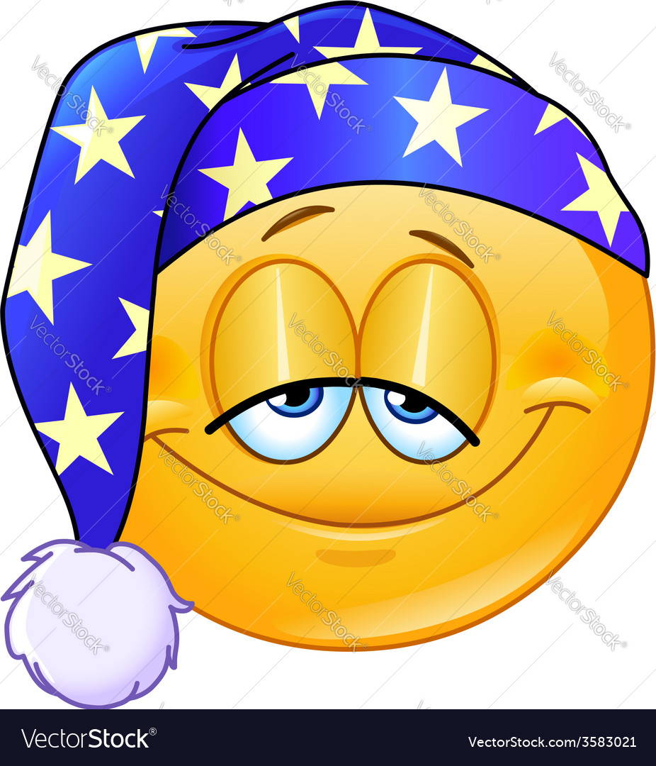 Good night emoticon vector