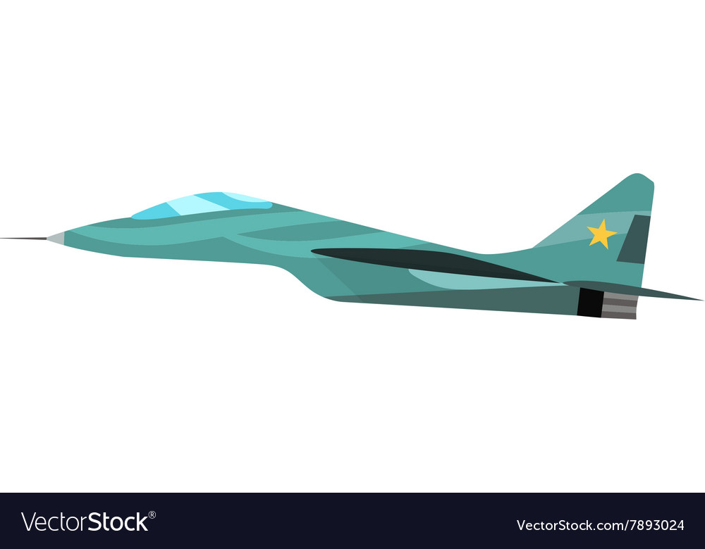 Military plane cartoon vector