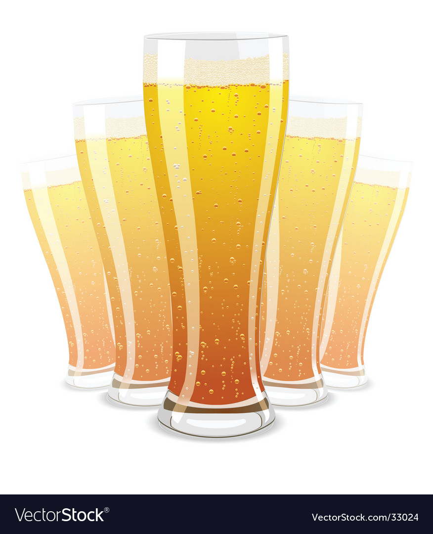 Of beer glasses vector