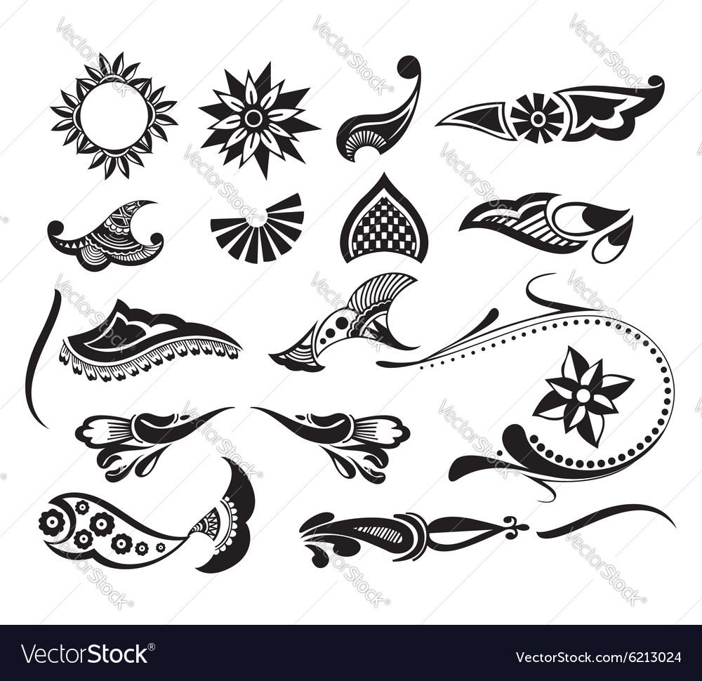 Tattoo element vector