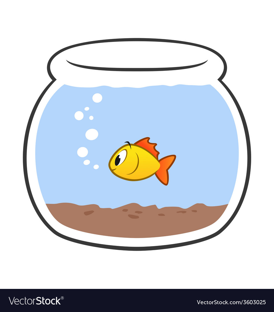 Cartoon fish bowl vector
