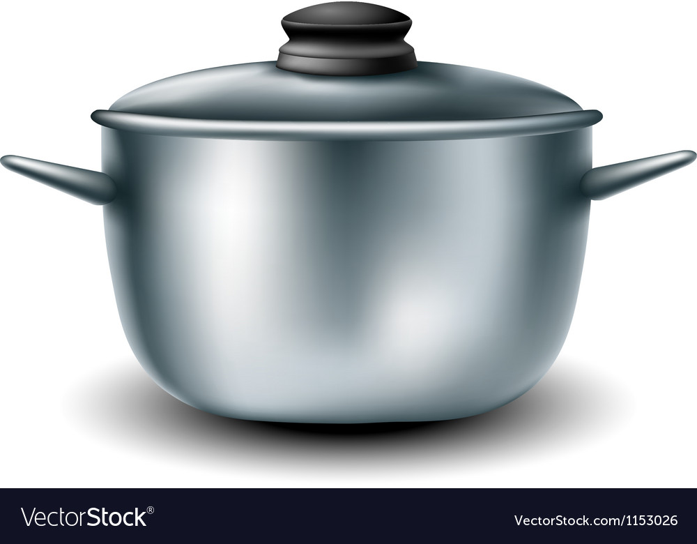 Cooking metal pan vector