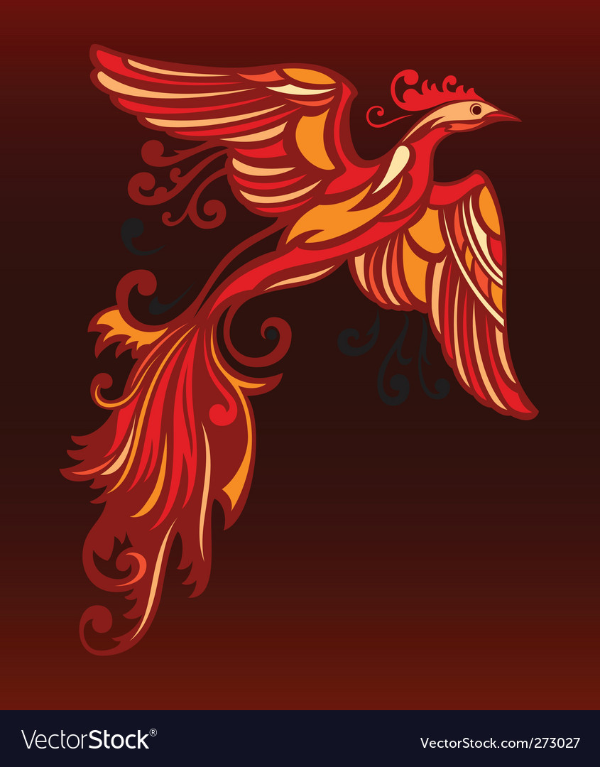 Decorative bird vector