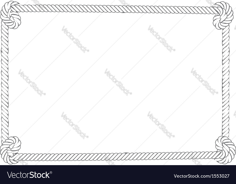 Grey rope border vector