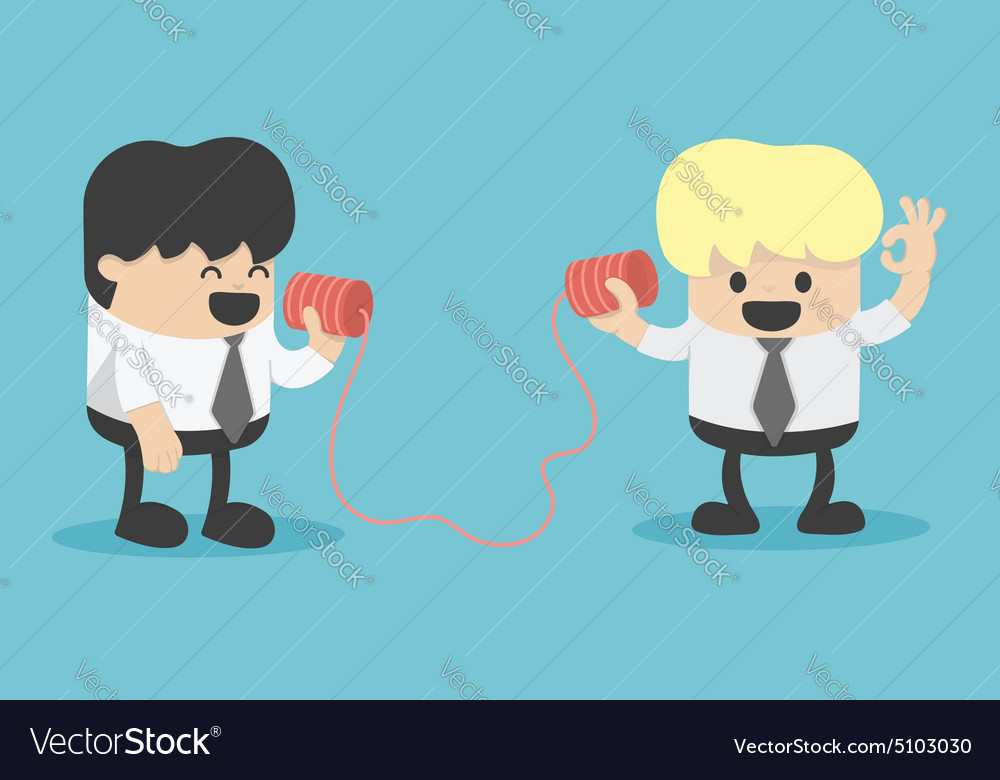 Businessman talking on a phone vector