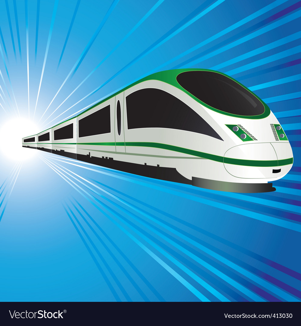 Highspeed train vector
