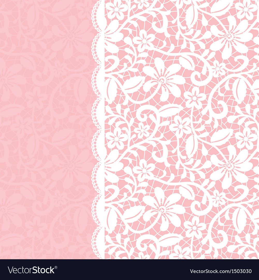 Lace background with border vector