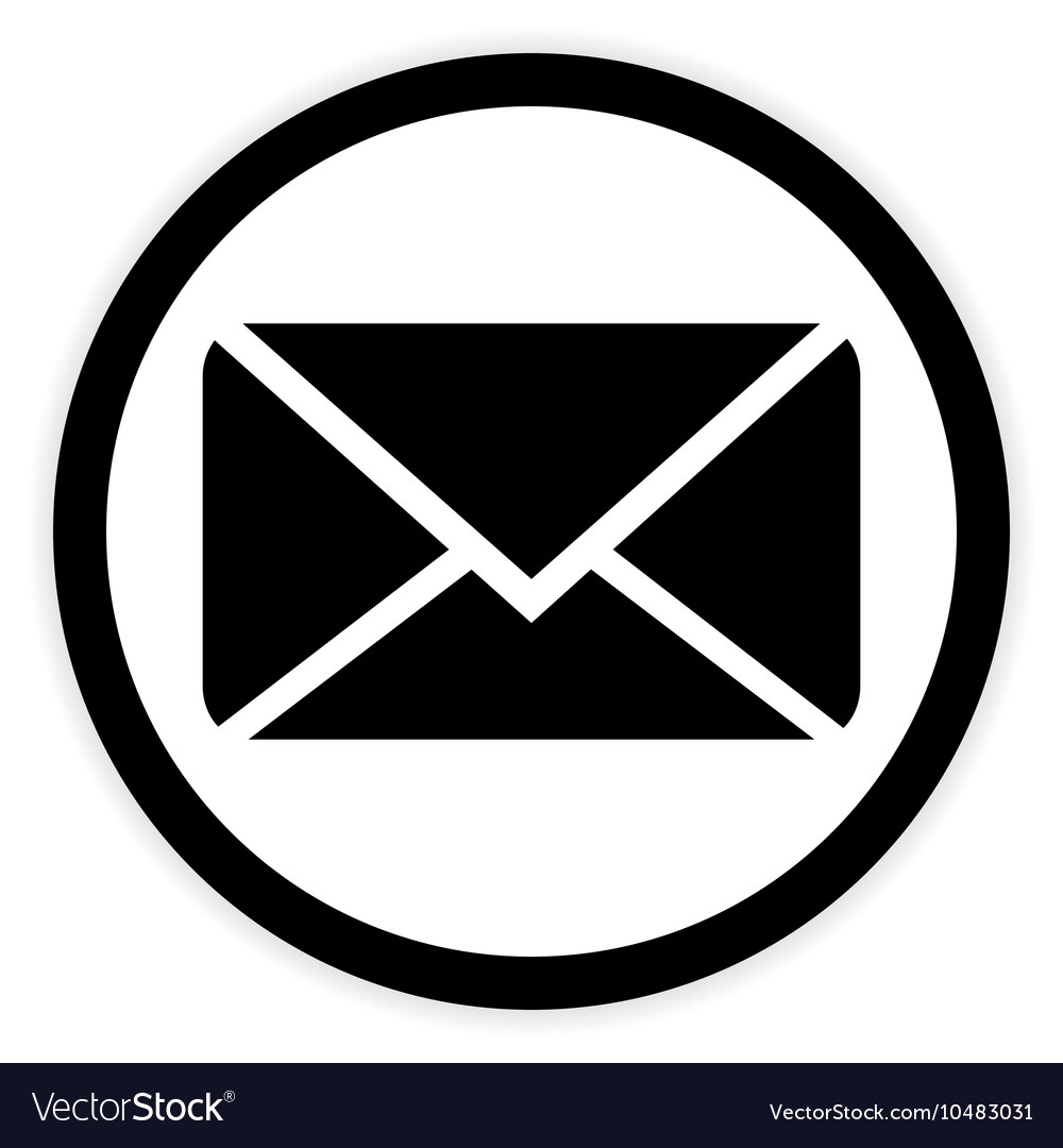 Mail button on white vector